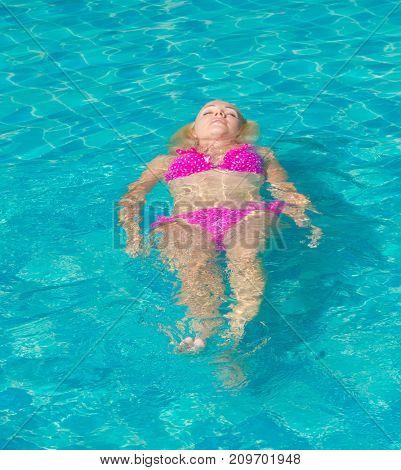 Graceful Relaxing Swimming Beauty