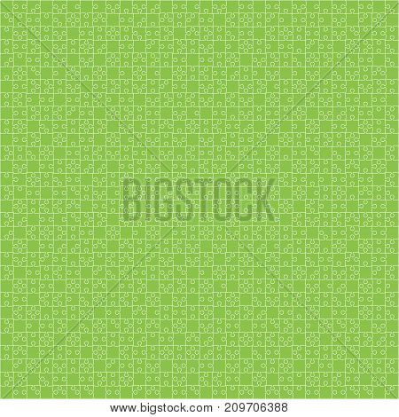 900 Green Material Design Pieces Arranged in a Square - JigSaw. Jigsaw Puzzle Blank Template.