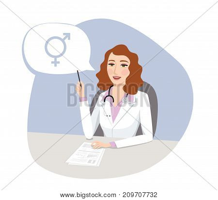 Sexual orientation - Female doctor talking about HRT (Hormone Replacement Therapy)