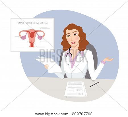 Gynecology consultation - Female gynecologist doctor consulting and examining patient