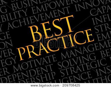 Best Practice word cloud collage , business concept background