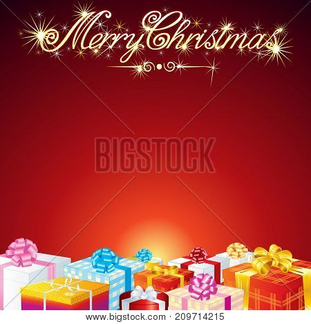 Christmas Greeting Card Vector Background. Vector Image For Text and Design.