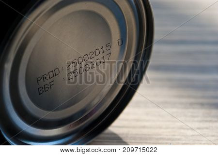 Expire date printed on bottom of canned food