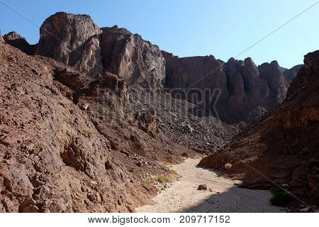 Black canyon scenic trail in Eilat Mountains Israel.
