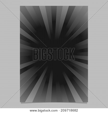 Abstract ray burst cover background template - gradient vector brochure background graphic from radial stripes