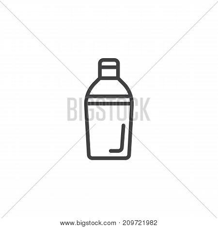 Shaker bottle line icon, outline vector sign, linear style pictogram isolated on white. Symbol, logo illustration. Editable stroke