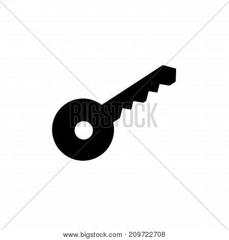 Icon key black on white background. Vector illustration