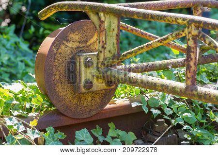 Carriage Wheels Closeup, Rusty