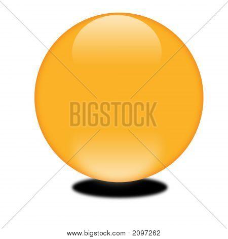 October Orange 3D Sphere