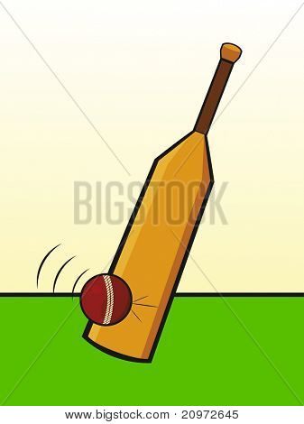 abstract cricket background, vector illustration