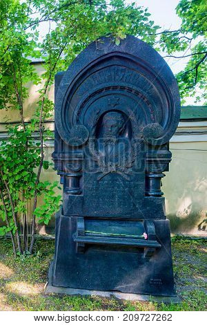 ST.PETERSBURG, RUSSIA - JUNE, 2015: Grave of famous Russian composer Modest Mussorgsky