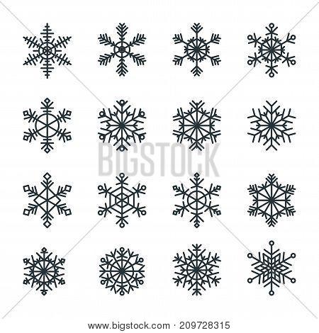 Snowflakes Icons Set