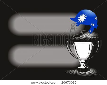 vector illustration of banner with cricket element