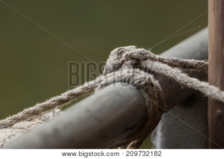 A special knot from a rope outdoor