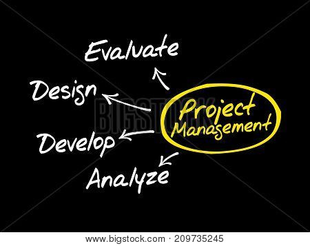 Project Management Flow Chart Mind Map