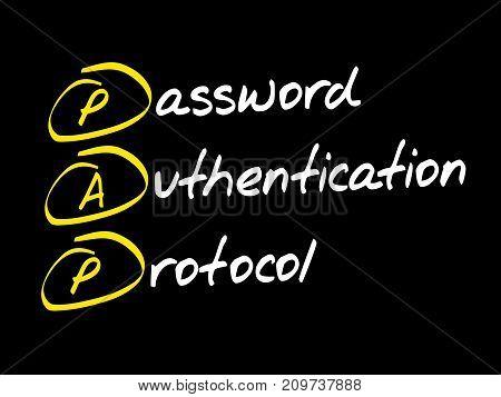 PAP Password Authentication Protocol , acronym concept