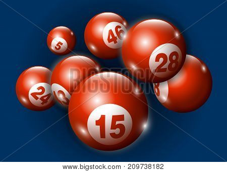 3D Lottery Keno Number Ball - Red