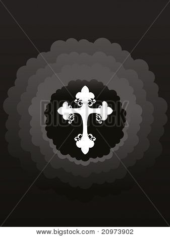background with isolated decorated cross