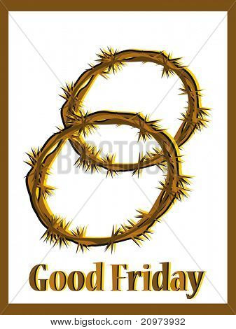 good friday background with crown made of throns