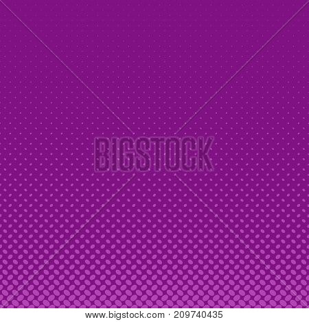 Retro abstract halftone ellipse pattern purple background - vector design with diagonal elliptical dots in varying sizes