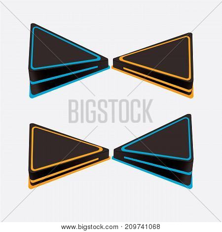 Realistic 3d toggle switch. Switches with backlight on/off - position. Vector illustration.