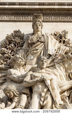 Detail of Arc de Triomphe, Paris