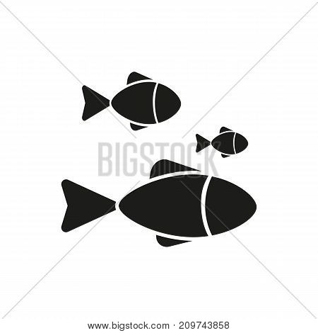 Simple icon of shoal of fish. Oceanarium, aquarium, domestic animals. Pet types concept. Can be used for topics like fauna, sea, fishery