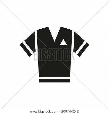 Simple icon of t-shirt. Sportswear, clothing, soccer kit. Sporting goods concept. Can be used for topics like sport, fashion, shopping
