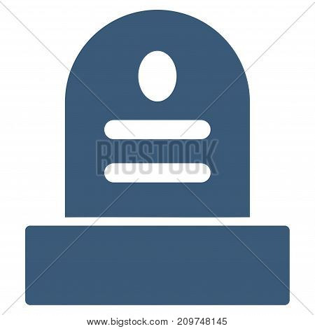 Grave Stone vector icon. Flat blue symbol. Pictogram is isolated on a white background. Designed for web and software interfaces.