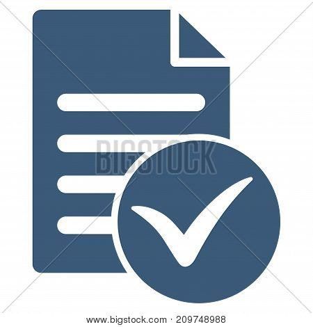 Test Page vector icon. Flat blue symbol. Pictogram is isolated on a white background. Designed for web and software interfaces.