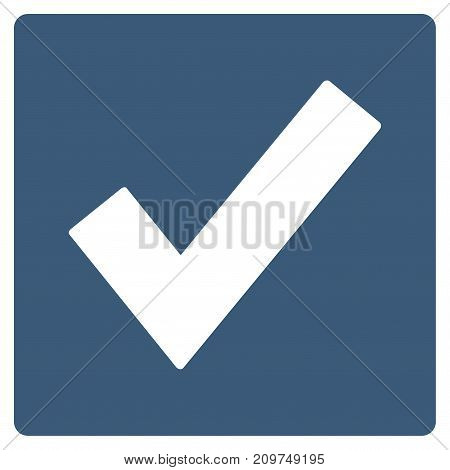 Valid vector icon. Flat blue symbol. Pictogram is isolated on a white background. Designed for web and software interfaces. poster