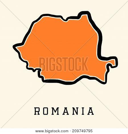 Romania Map Outline