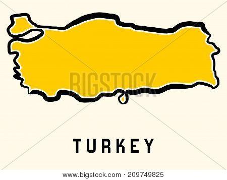 Turkey Map Outline