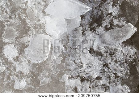 ice on the nature as background . Photo of an abstract texture