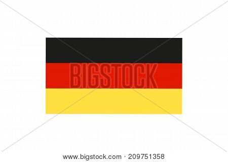 Vector illustration of the national flag of Germany on white background.