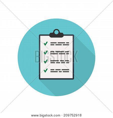 Checklist Symbol. Flat Icon. Simple Illustration