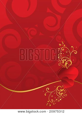 abstract creative artwork background with beautiful floral decorated romantic hearts