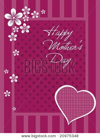 beautiful greeting card for mother day celebration