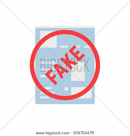 fake simple social network page. concept of privacy policy, webpage book, spy, lie, header copy, layout chat, illegal, app. flat style trend modern logo design vector illustration on white background