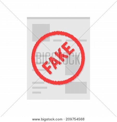 simple social network fake page. concept of privacy policy, webpage book, spy, lie, header copy, layout chat, illegal, mobile app. flat style trend logo design vector illustration on white background