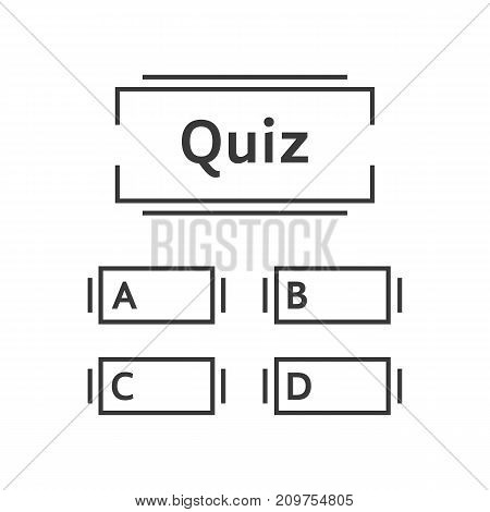 thin line quiz game template. concept of intelligence, game time, contest, examination, blank form, examine. flat linear style trend modern graphic design vector illustration on white background