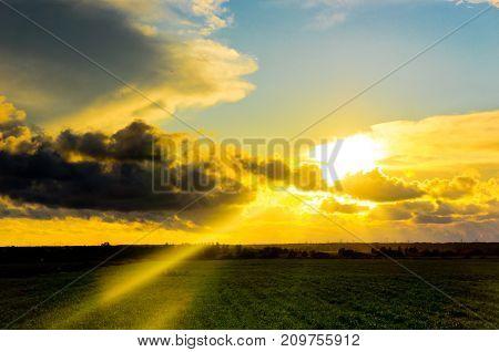 Skies View Burning Heavens