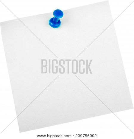 Paper blank note pinned notice board white