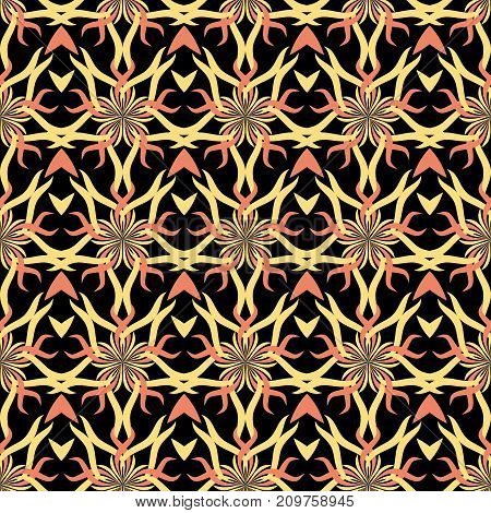 Seamless abstract stars vintage black pattern. Vector illustration