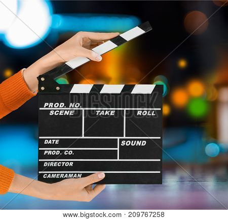 Hands movie clap clapper take action entertainment blue