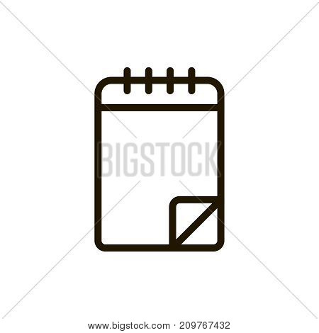 Printing paper icon flat icon. Single high quality outline symbol of info for web design or mobile app. Thin line signs of paper for design logo, visit card, etc. Outline logo of document