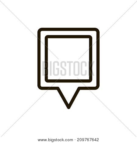 Pin icon flat icon. Single high quality outline symbol of info for web design or mobile app. Thin line signs of map pin for design logo, visit card, etc. Outline logo of map marker