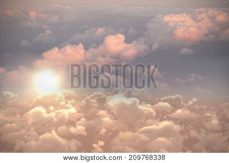 Full frame image of cloudy sky during sunset