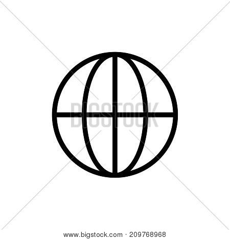 Globe icon flat icon. Single high quality outline symbol of info for web design or mobile app. Thin line signs of world for design