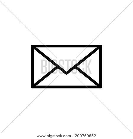 Mail icon flat icon. Single high quality outline symbol of email for web design or mobile app. Thin line signs of technology for design logo, visit card, etc. Outline logo of envelope